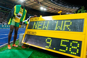 Usain Bolt world record 9.58 seconds